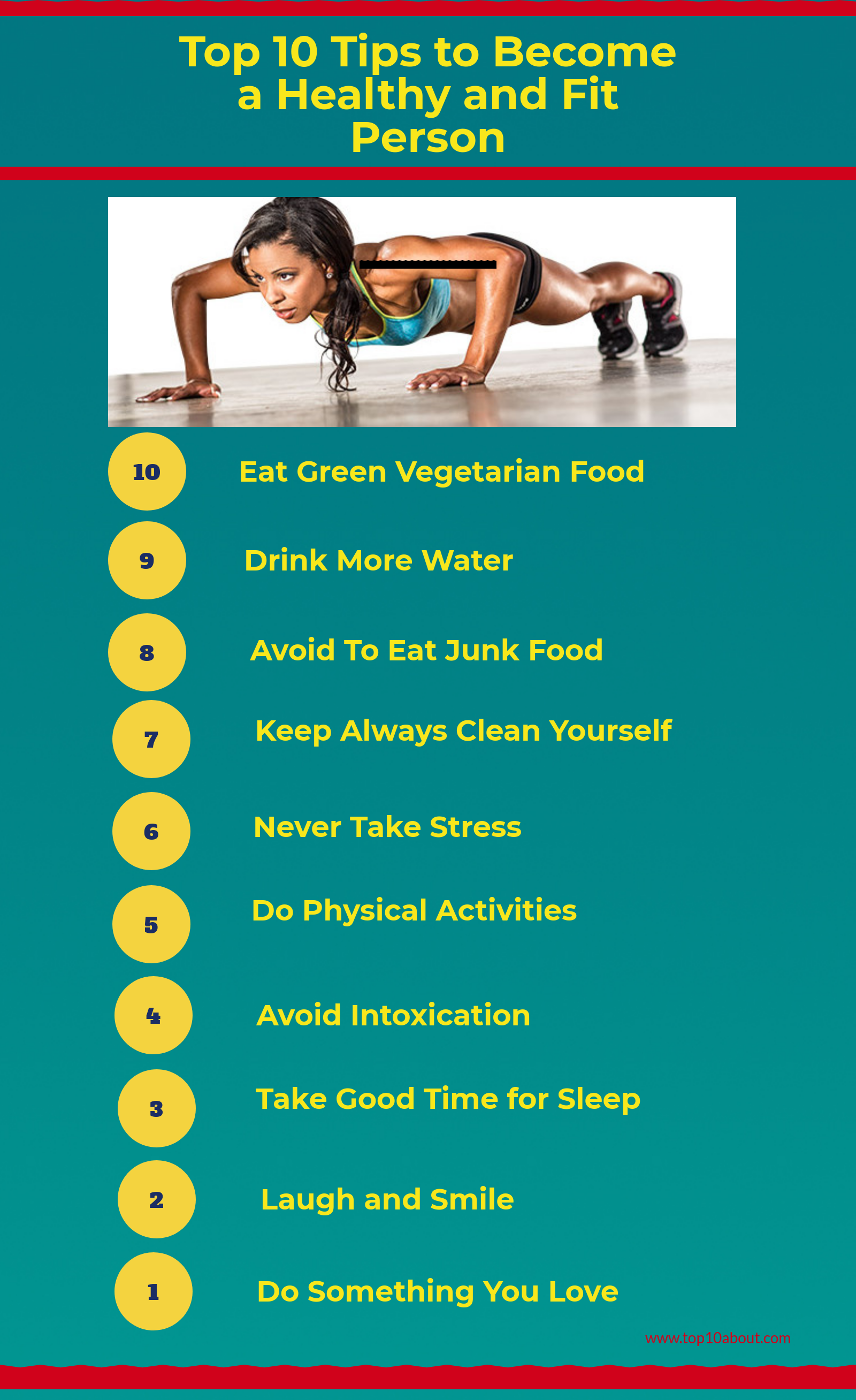 Top 10 Tips to Become a Healthy and Fit Person