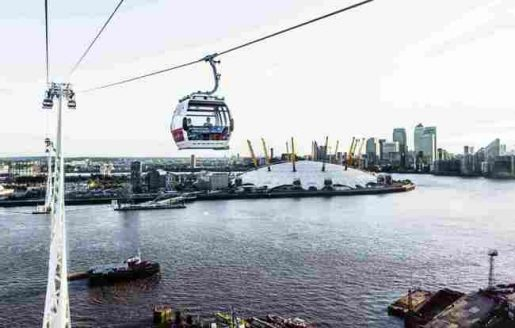 Emirates Air Line-Cable Car, London Top 10 Fun places for Kids in London
